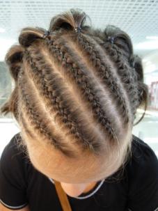 Плетение кос в студии Ажур